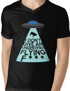 I Don't Give An Unidentified... (Clean Version) Mens V-Neck T-Shirt