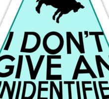 I Don't Give An Unidentified... (Clean Version) Sticker
