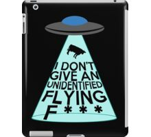 I Don't Give An Unidentified... (Clean Version) iPad Case/Skin