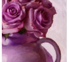 Lavender Roses And Tea Pot Sticker