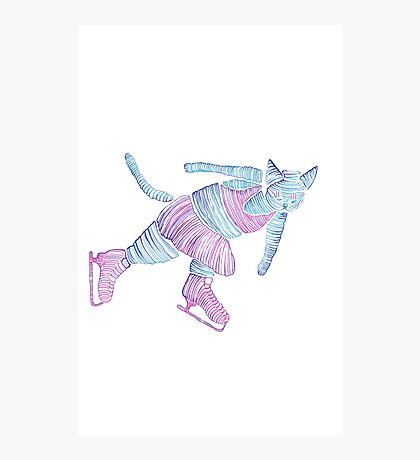 Peter the ice cat Photographic Print