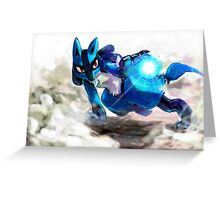Trials of Lucario Greeting Card