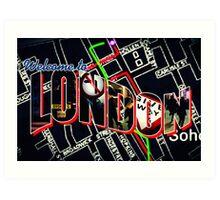 Welcome To London - Sherlock Version #1 Art Print