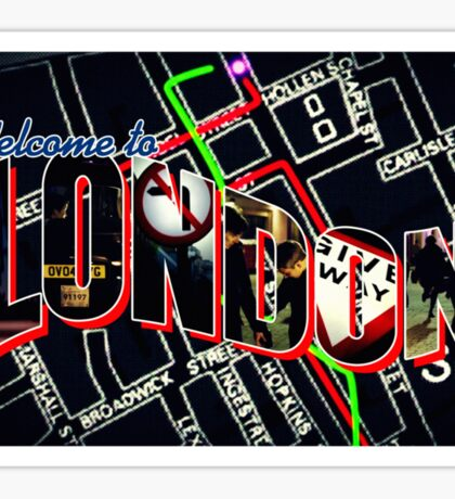 Welcome To London - Sherlock Version #1 Sticker