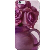 Lavender Roses And Tea Pot iPhone Case/Skin