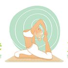 Beautiful woman doing yoga practice by SonneOn