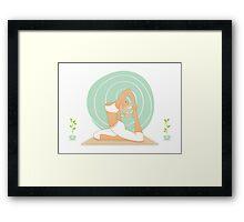 Beautiful woman doing yoga practice Framed Print