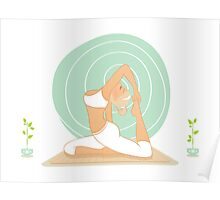 Beautiful woman doing yoga practice Poster