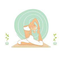 Beautiful woman doing yoga practice Photographic Print