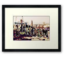 Welcome To London - Sherlock Version #2 Framed Print