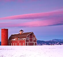 Sunrise on Daniel's Barn, Denver Colorado by RondaKimbrow