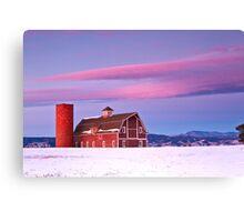 Sunrise on Daniel's Barn, Denver Colorado Canvas Print