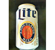 Miller Lite Photographic Print