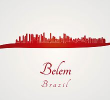 Belem skyline in red by paulrommer