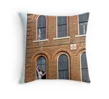 Window Measuring Throw Pillow