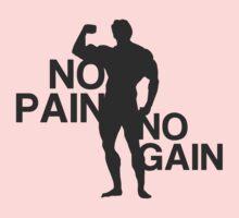 No Pain no Gain One Piece - Short Sleeve