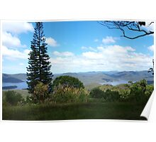 View to the Hinze Dam Gold Coast from Beechmont  Poster