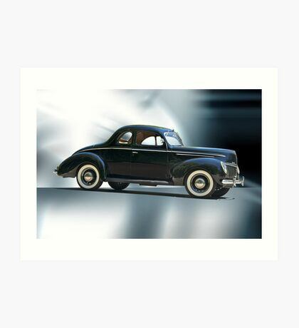 1940 Ford 'Deluxe' Coupe Art Print