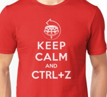 Keep calm and ctrl+z Unisex T-Shirt