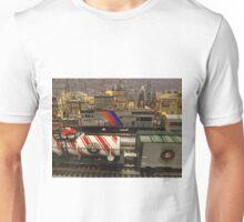 Model Trains, Model Buildings, Reading Terminal Market, Philadelphia, Pennsylvania Unisex T-Shirt