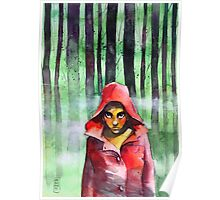Little red riding woods Poster