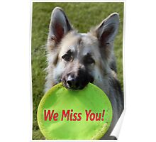Miss You Card Poster