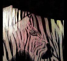 Melting Pixel Zebra by rick-and-morty