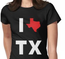 I Love Texas Womens Fitted T-Shirt