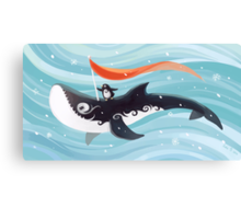 Grandpa Orca Canvas Print