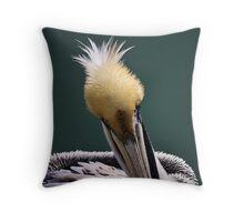 Juvenile Pelican Throw Pillow