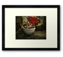 Bath Time For Zombie Framed Print