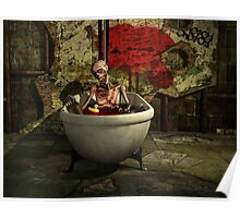 Bath Time For Zombie Poster