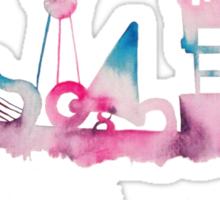 Disney World Hollywood Studios Watercolor Skyline Sticker