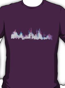 Disney World Magic Kingdom Watercolor Skyline T-Shirt