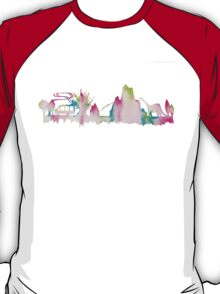 Disney Animal Kingdom Watercolor Skyline T-Shirt