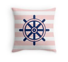 AFE Nautical Ship Wheel  Throw Pillow
