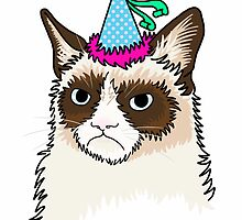 Party Grumpy Cat by Square Eyes