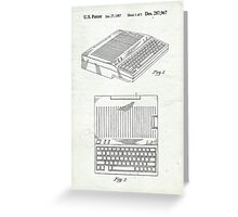 Original Patent for Apple IIe Personal Computer Greeting Card