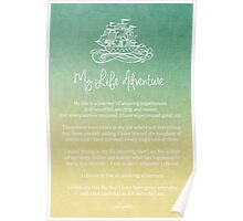 Affirmation - My Life Adventure Poster