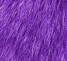 Stylish Purple Fluffy Fur - Close up Texture  by sitnica