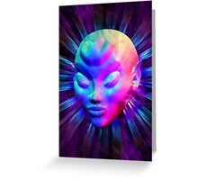 Psychedelic Alien Meditation Greeting Card