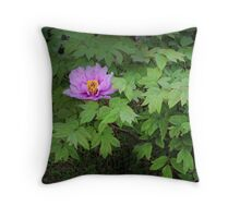 Single Pink Bloom Throw Pillow