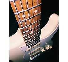 Guitar down the string Photographic Print
