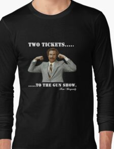 "Anchorman - Ron Bergundy ""Gun Show"" Long Sleeve T-Shirt"