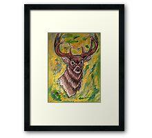 Watercolor Deer Framed Print