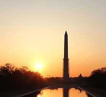 Sunrise at Washington D.C by Sam Morgan