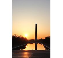 Sunrise at Washington D.C Photographic Print