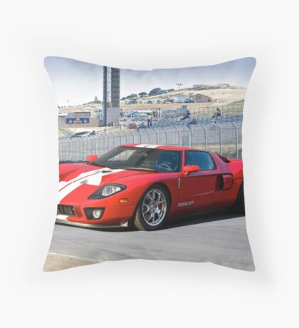 Ford GT at Monterey Throw Pillow