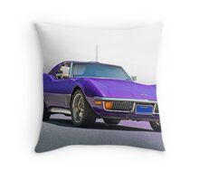 1970 Chevrolt Corvette C3 Throw Pillow