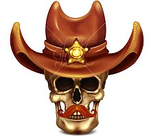 Skull In Cowboy Hat by Kireeva